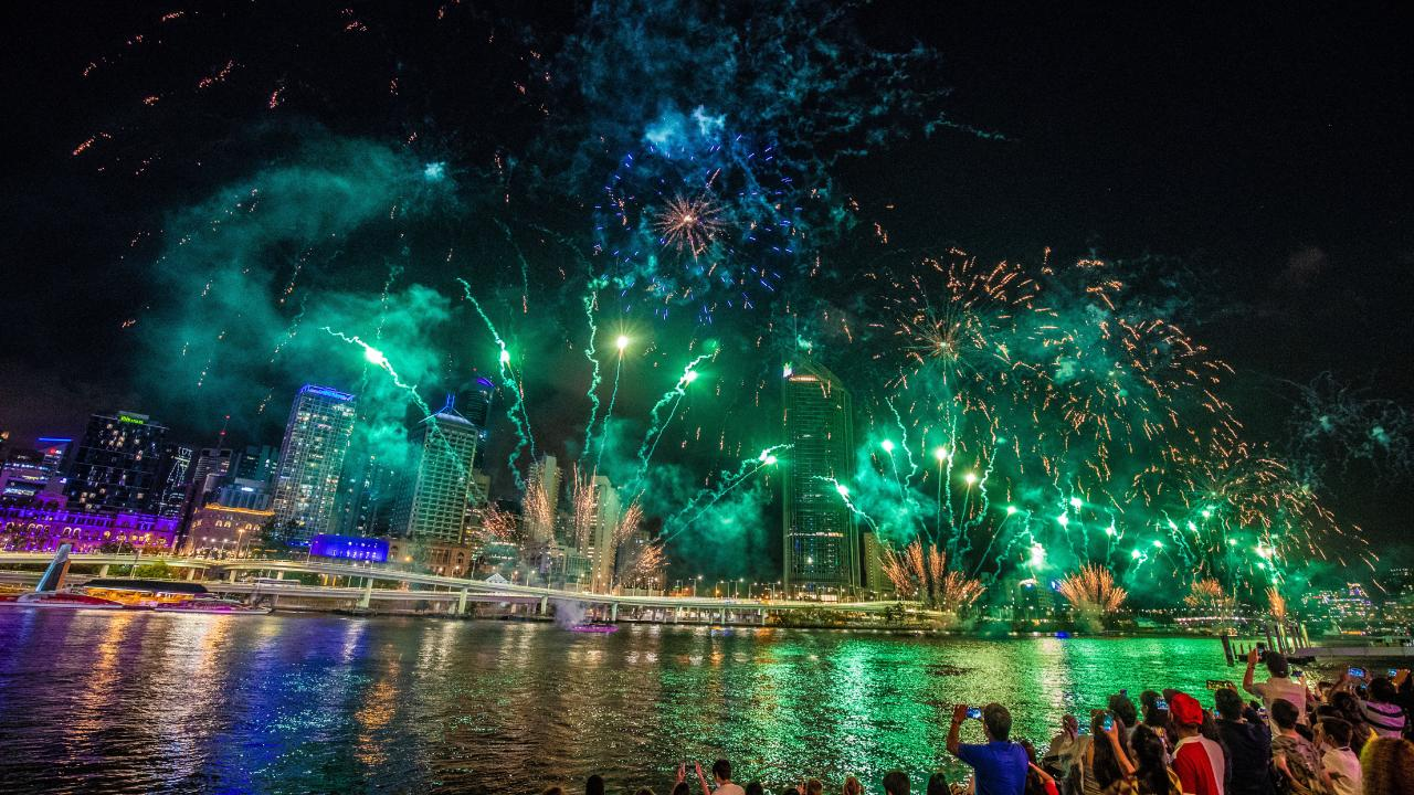 New Year's Eve over the Brisbane River. Picture: AAP Image/Glenn Hunt