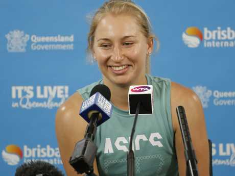 Daria Gavrilova says the mental obstacles that hounded her in 2018 after now behind her.