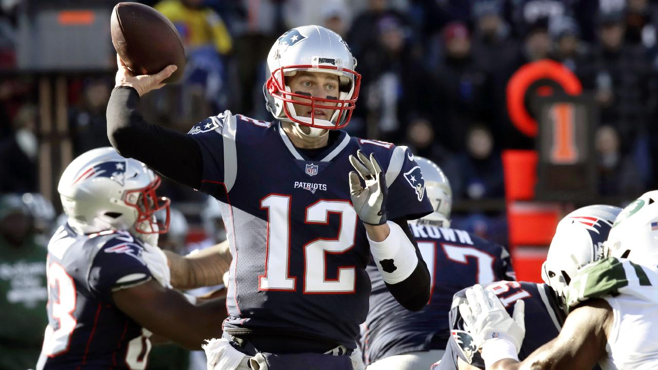 Tom Brady and the New England Patriots have earned a week off once again. Picture: AP
