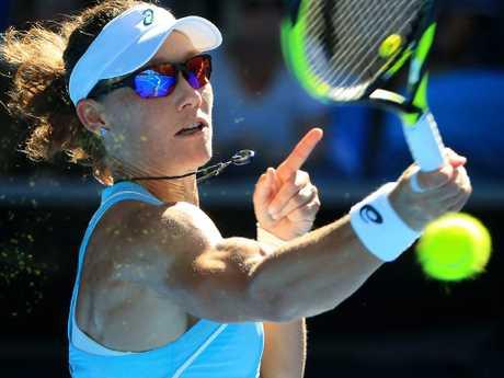 Sam Stosur struggled to find her range. Picture: Mark Stewart