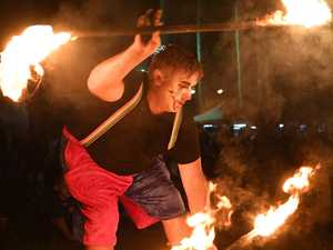 Fire Twirling - New Year - Bundaberg