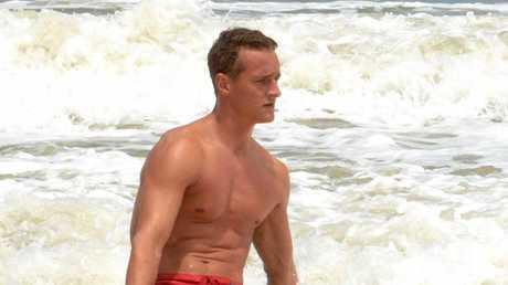 Surf lifesaver Jonas Berding from Denmark at Emu Park