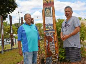 Carvings stand tall for Cherbourg's indigenous soldiers