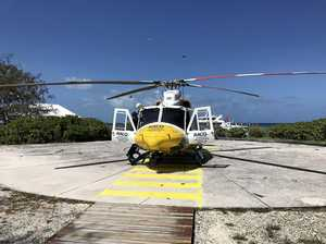 Man airlifted to hospital after medical emergency on island