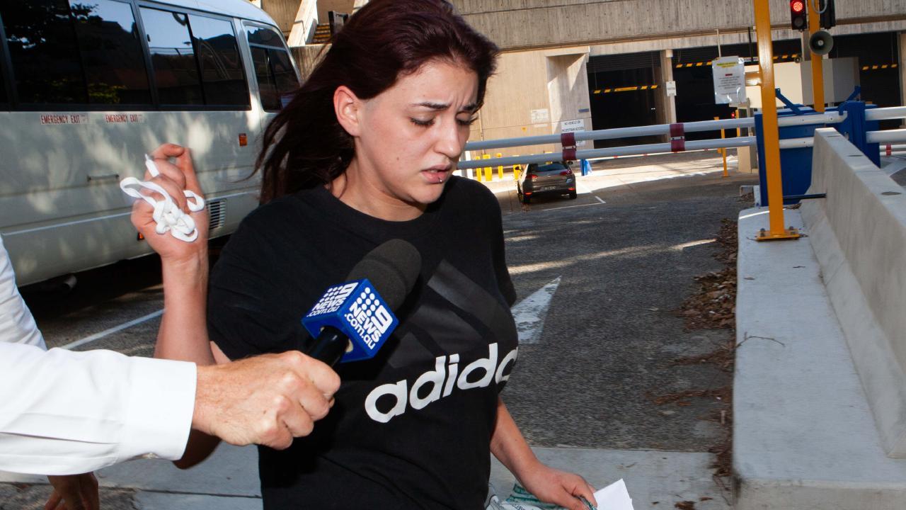 Lillian Prieto leaves court today. Picture: Jordon Shields