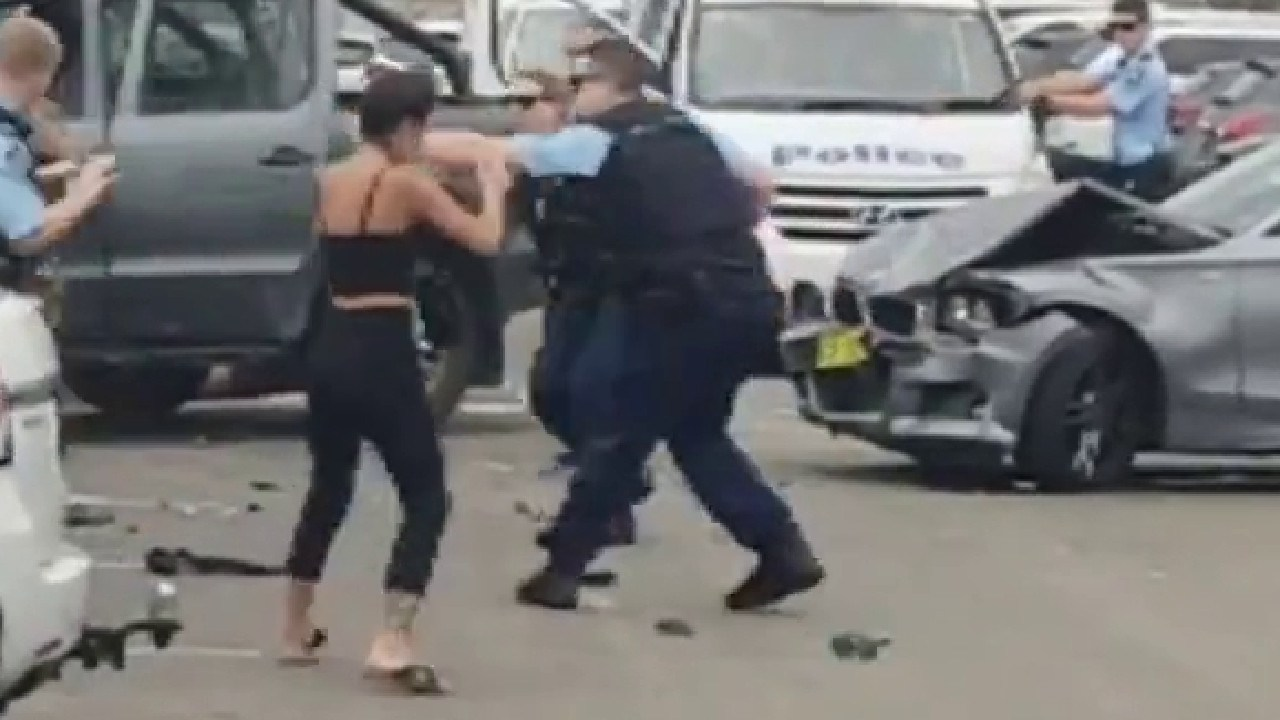 Lillian Prieto was driving with her four co-accused hen police tried to stop the allegedly stolen VW Amarok. Picture: 7 News