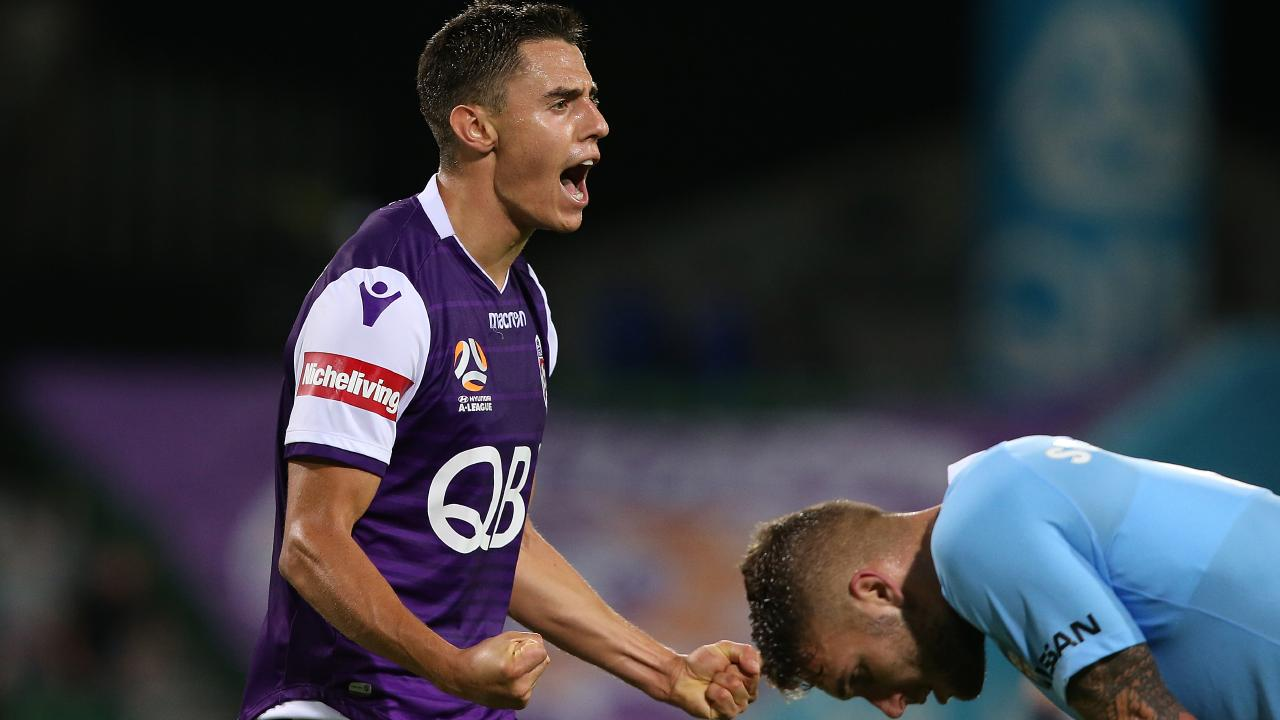 Chris Ikonomidis has been in sparkling form for Perth Glory. Picture: Paul Kane/Getty