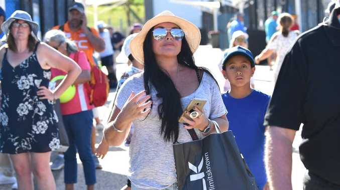 Schapelle Corby on day one of the Brisbane International. Picture: Darren England/AAP