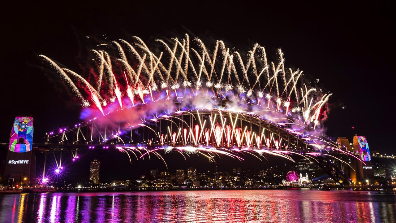 The skyline dazzled for 12 minutes. Picture: Brook Mitchell/Getty Images