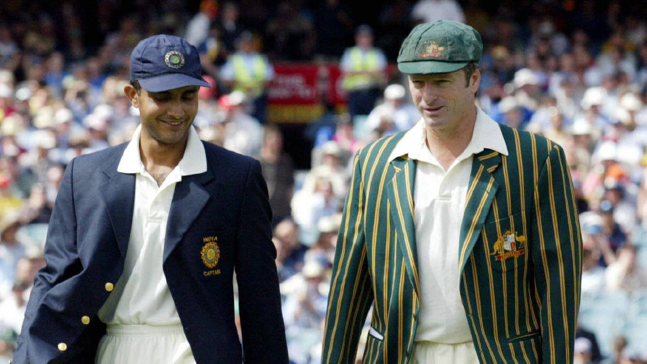 Old rivals: Sourav Ganguly and Steve Waugh.