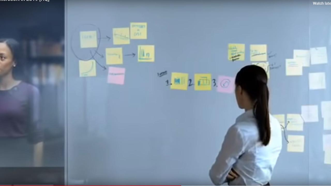 Imagine a world where we could have post its on a wall.