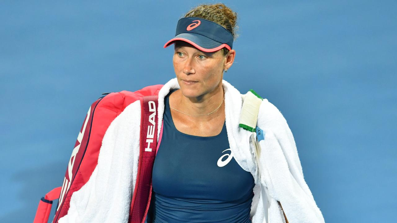 Sam Stosur just can't seem to win a match at her home tournament.