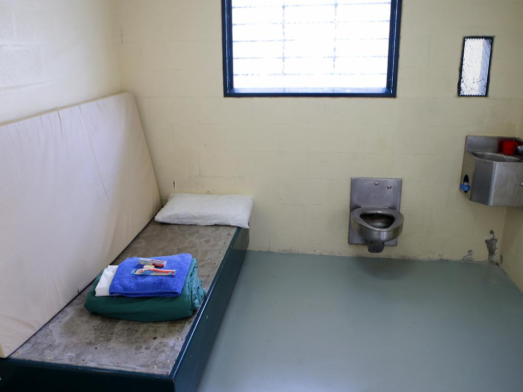 "When prisoners ""double up"", one often lies on a mattress on the floor, or in bunks. Picture: Chris McCormack"