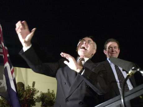 Prime Minister Howard is pictured here yelling back at protesters after a speech in Mooloolaba in 2001.