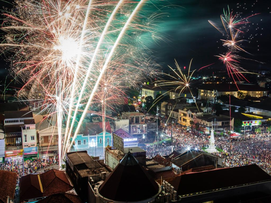 Fireworks in Yogyakarta, Indonesia. Picture: Getty