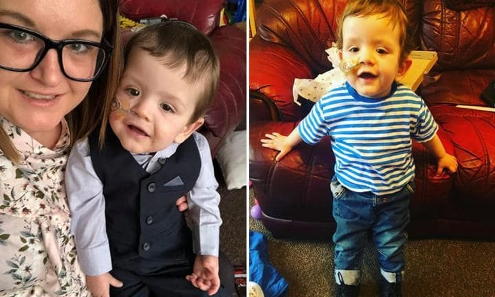Last year Tina almost lost Noah, but this year the little fighter is strong and doing well. Photo: The Sun