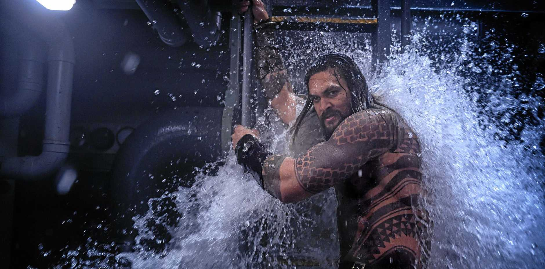 ACTION: Jason Momoa in a scene from the movie   Aquaman .  Supplied by Warner Bros.