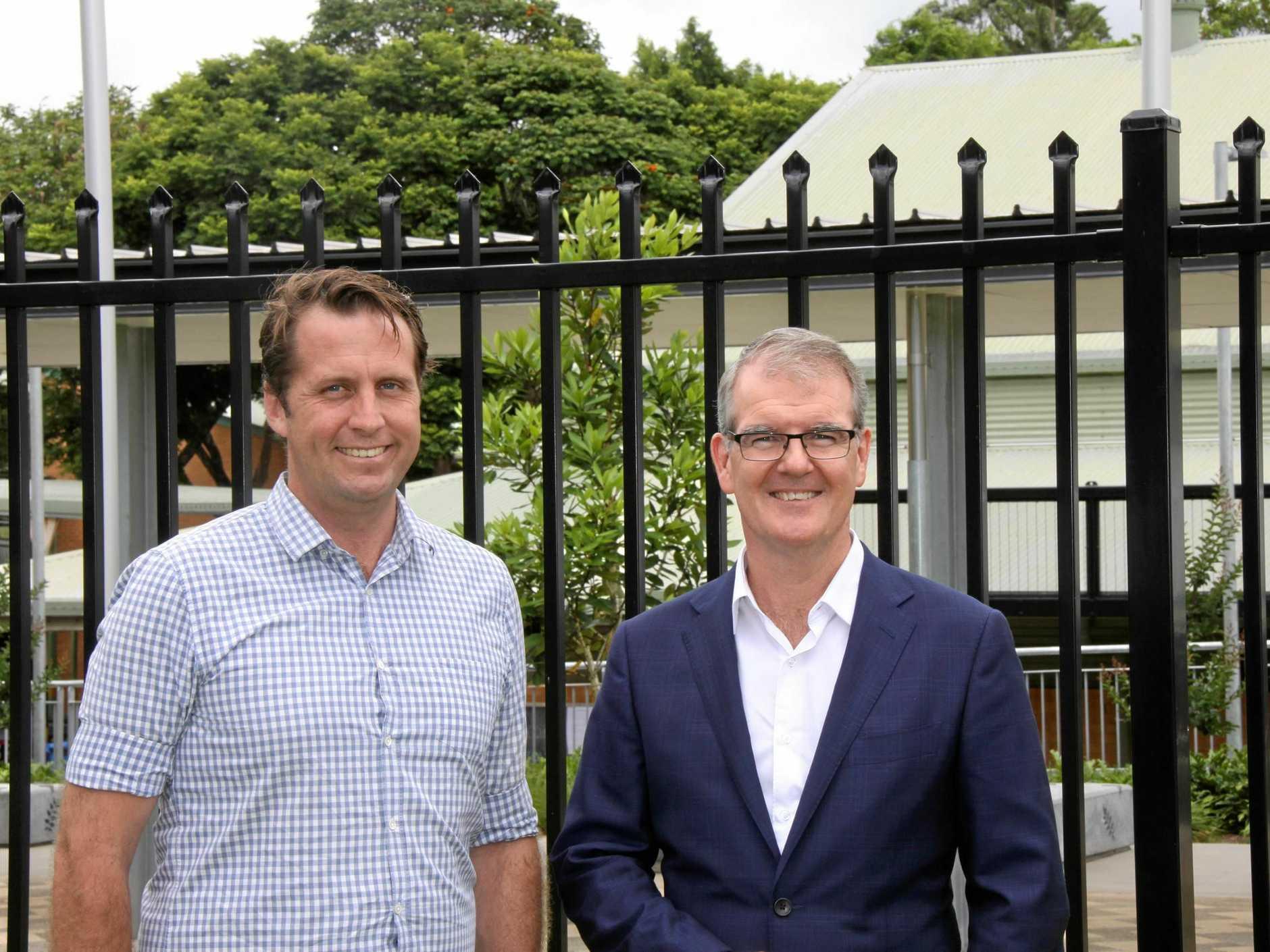 DRUG SUMMIT: Ballina Labor candidates Asren Pugh with state Labour leader Micahel Dalley MP.