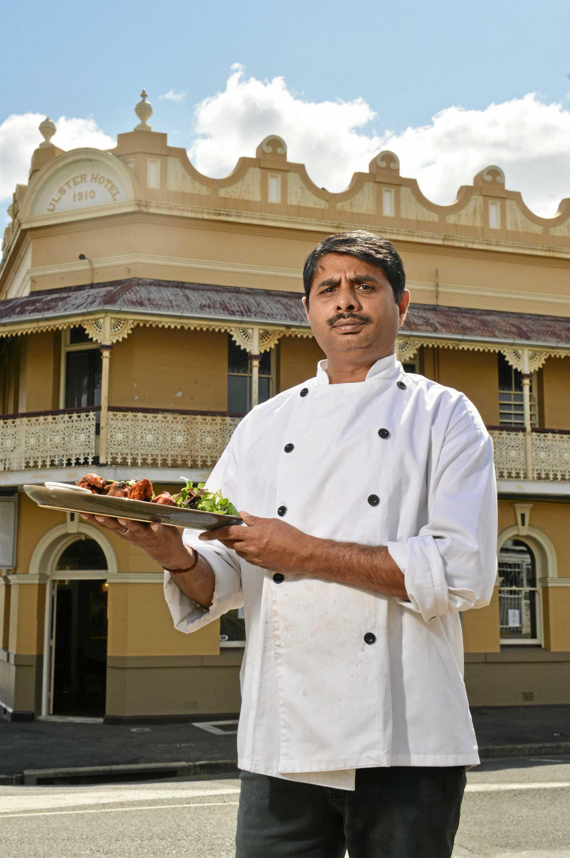 Promod Kumar at Memories of India on Brisbane Street.