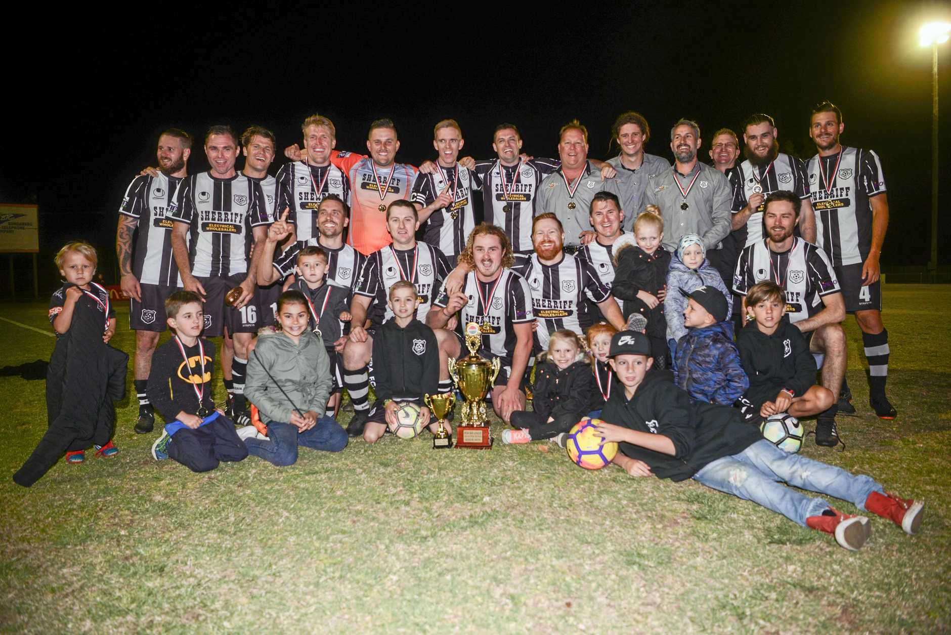 The winners of the Wide Bay League Grand Final in 2018, the Bingera Football Club.