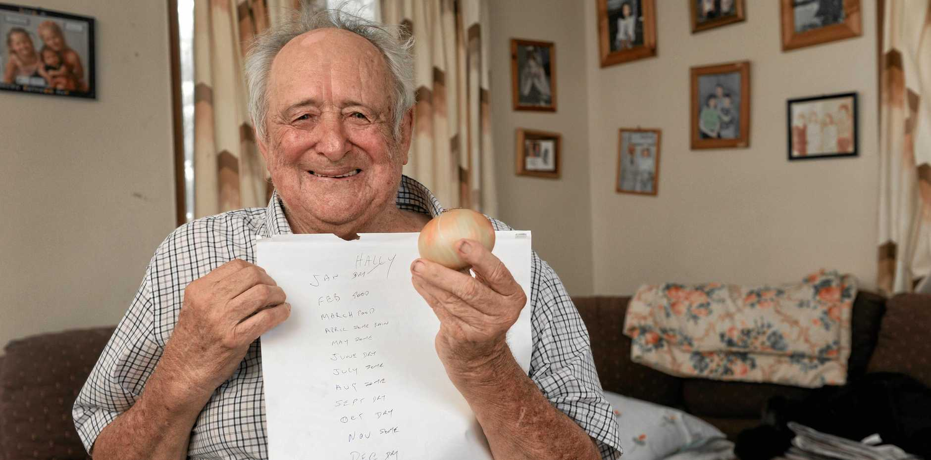 Hally Herrmann has made his onion weather predictions for 2019.
