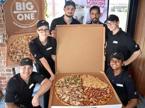 Feeding a crowd with a single giant pizza