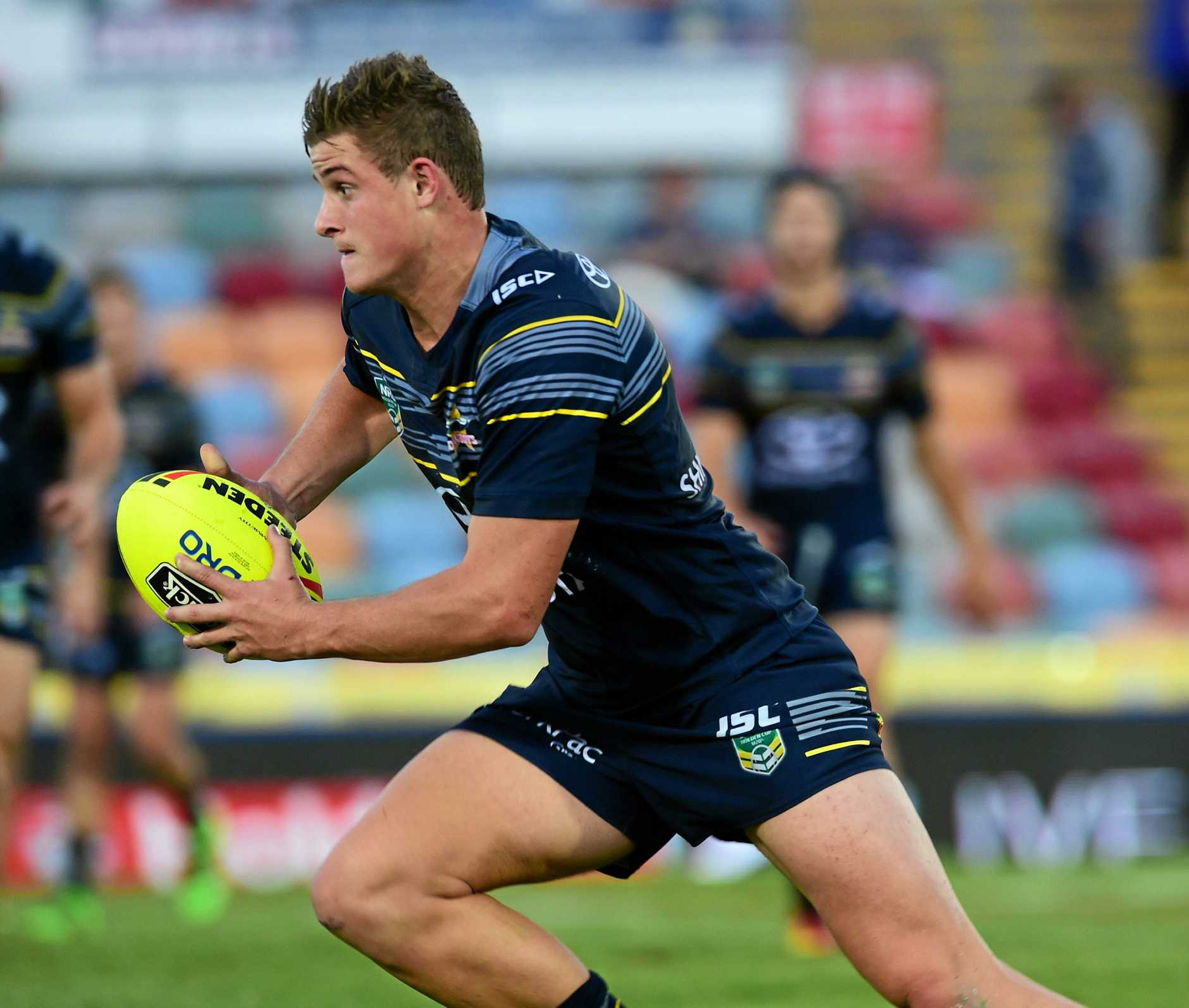 NYC  match between North Queensland Cowboys and Gold Coast Titans at 1300Smiles Stadium. Cowboys Mitch Dunn. Picture: Evan Morgan