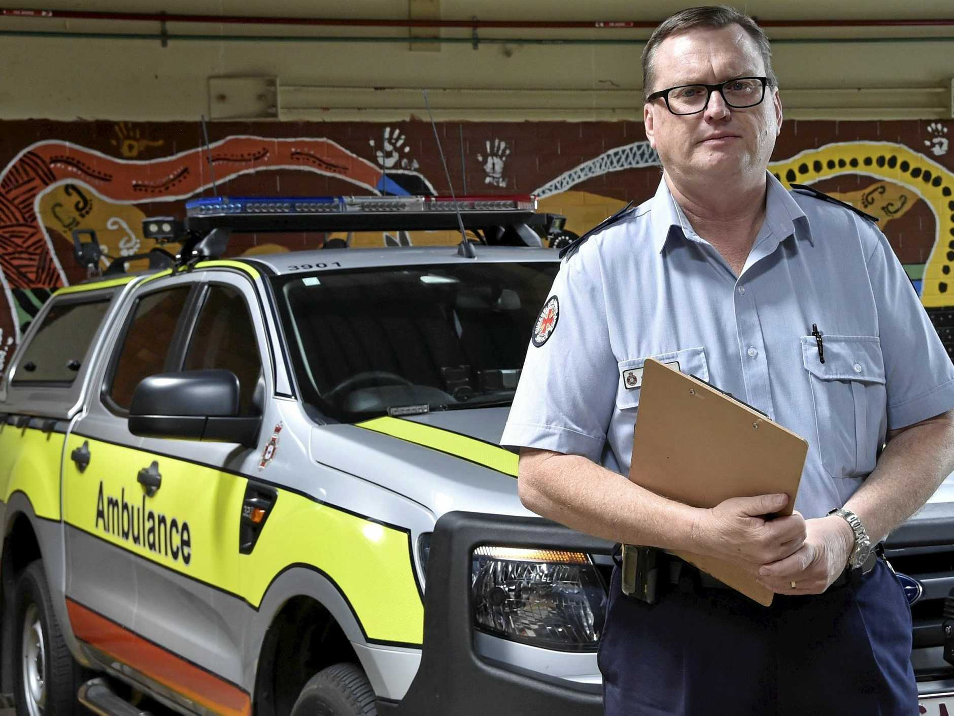 BE ALERT: Queensland Ambulance Service senior operations supervisor Stephen Johns urges drivers to be aware of the Fatal Five.