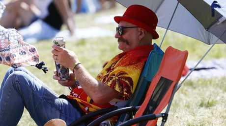 Living his best life. Falls Festival at Marion Bay. Picture: Matt Thompson