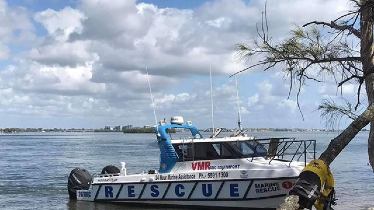 Emergency crews are at the scene of a major jetski accident at South Stradbroke Island, with a man treated for