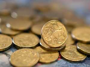 Aussie dollar hits three-year low