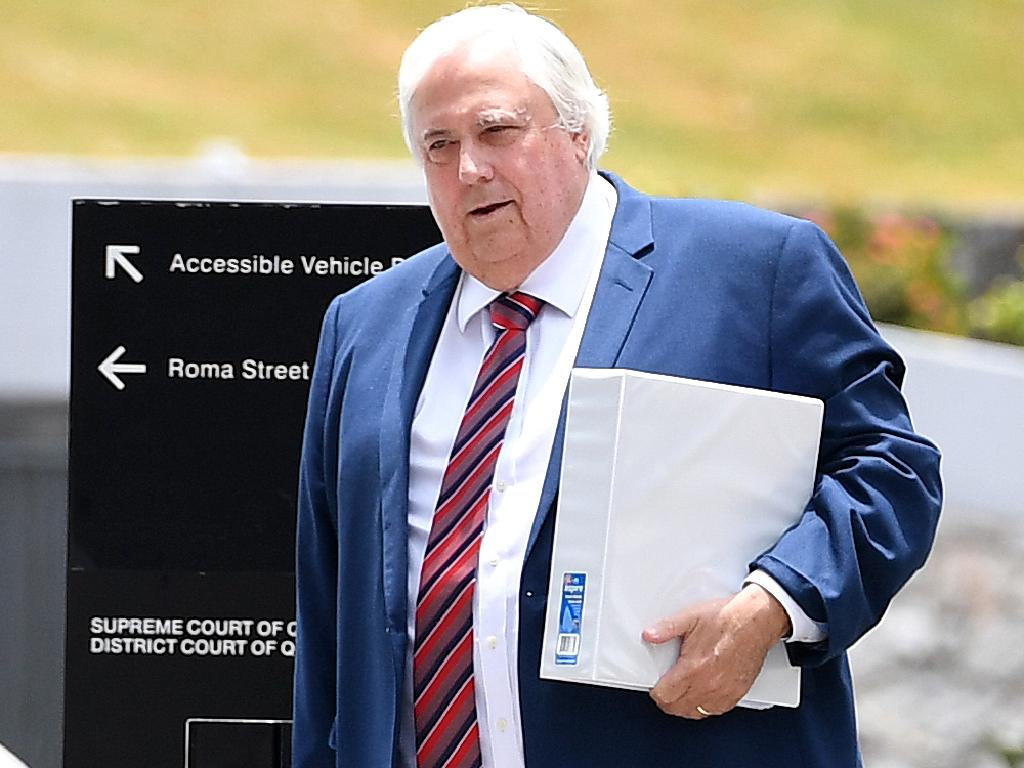 Businessman Clive Palmer arrives at the Supreme Court in Brisbane, Tuesday, December 4, 2018. (AAP Image/Dan Peled) NO ARCHIVING