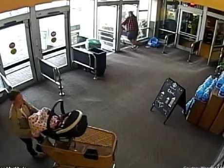 On November 22 — the last day she was seen alive — security cameras captured Kelsey Berreth shopping at a local supermarket with one-year-old Kaylee. Picture: Supplied