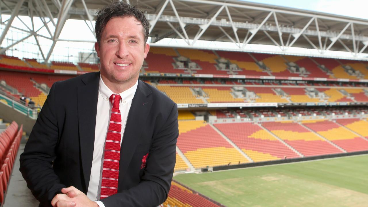 Robbie Fowler at Suncorp Stadium in 2015 promoting Liverpool's tour. Picture: Jono Searle.