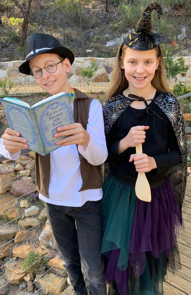 Alex Boyd, 10, and Gabrielle Boyd, 11, love drama and their family has applied for the state government's Creative Kids rebate. Picture: Supplied