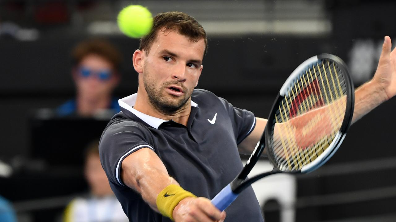 Grigor Dimitrov cruised through to the quarter-finals. Picture: AAP