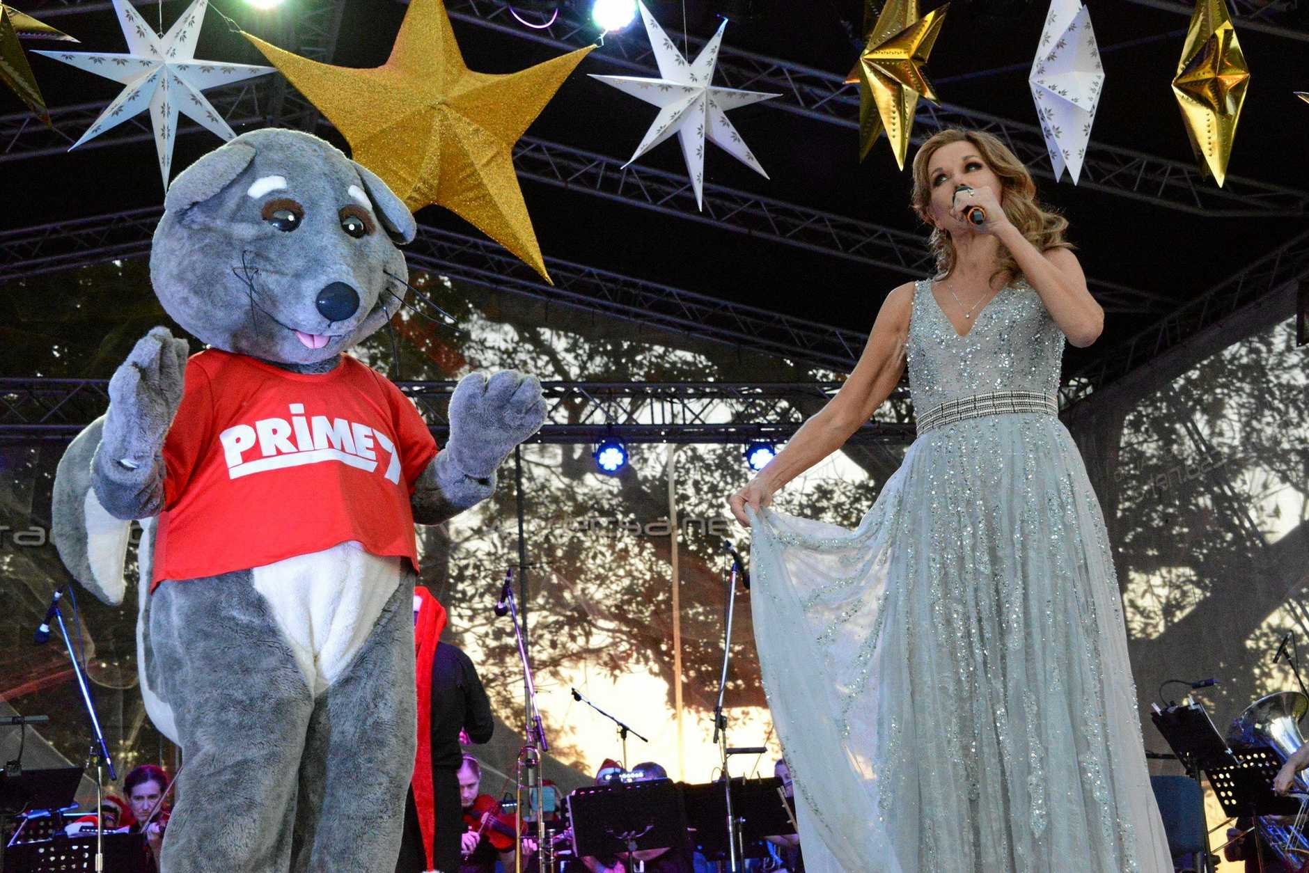 Cabaret star Rhonda Burchmore was a hit at this year's Carols by Candlelight at Alumny Creek.