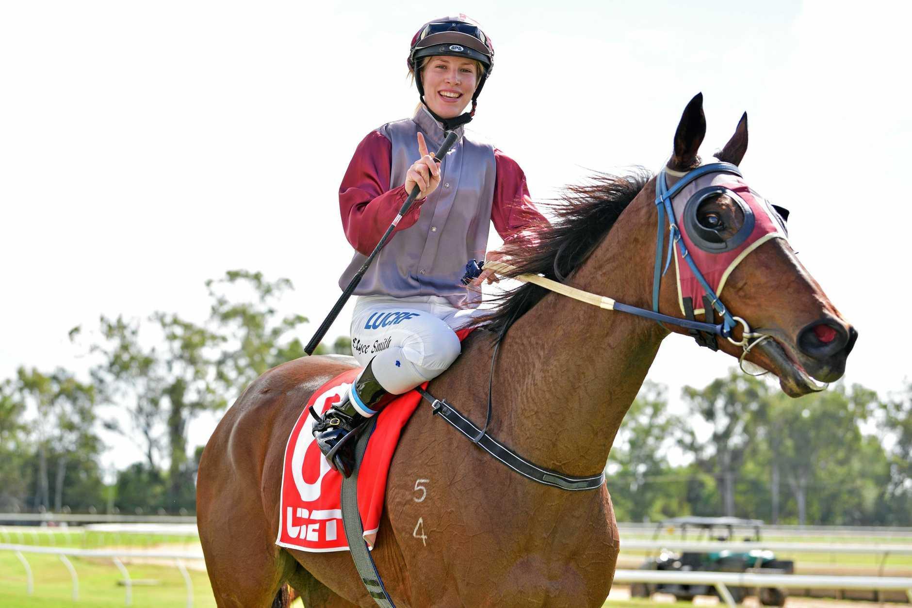 Elyce Smith won the Rockhampton Jockey Club's apprentice jockey premiership in her first season riding the provincial circuit.