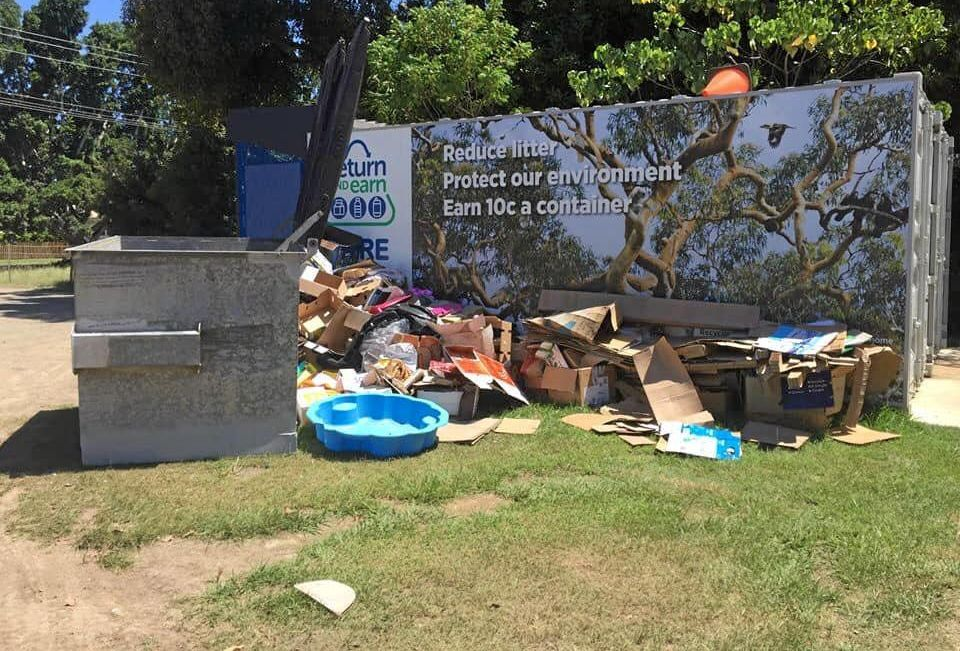 Significant illegal dumping that has occurred at the Mullum Bowlo site over Christmas.