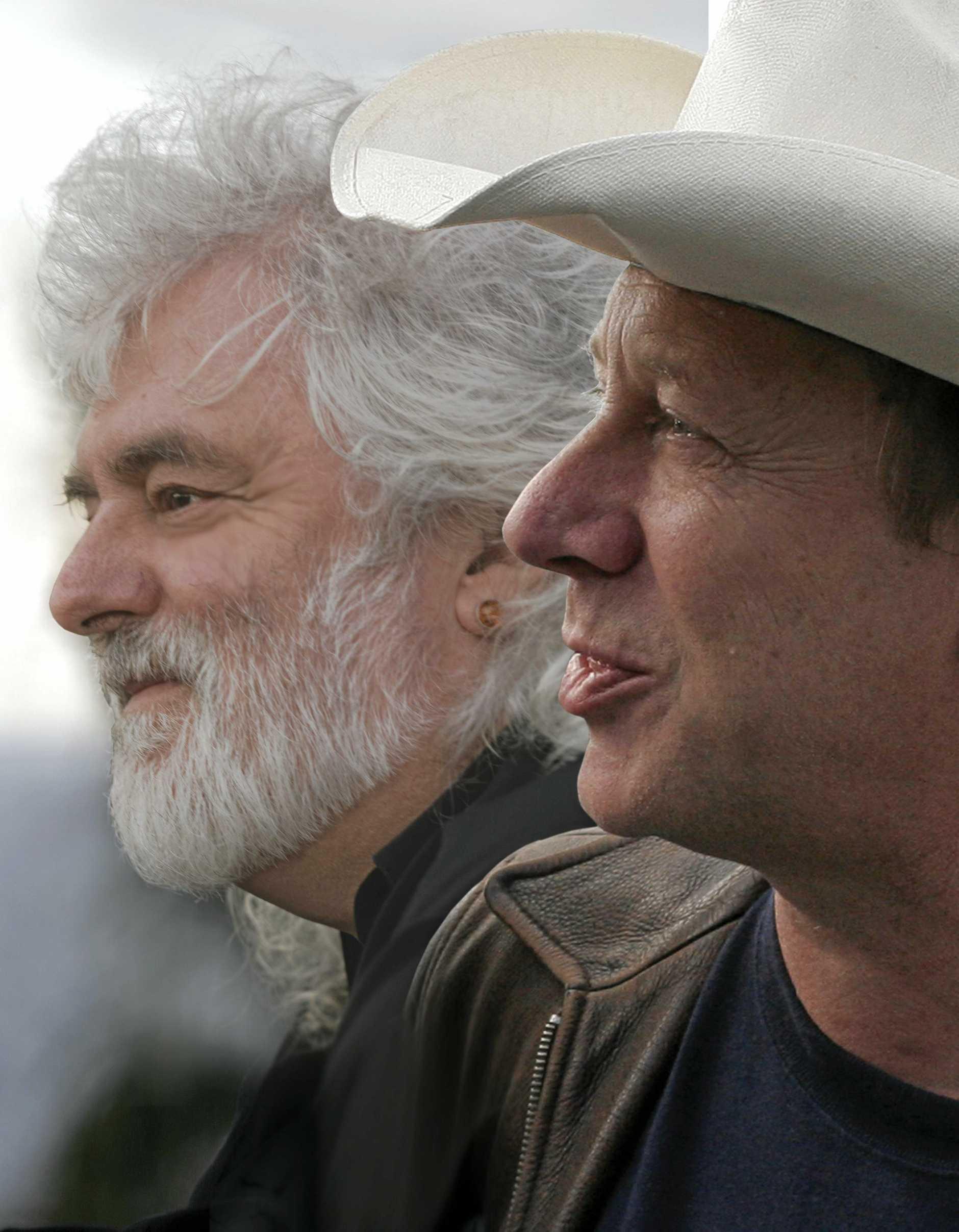 AUSSIE ROCK LEGENDS: Brian Cadd (left) and Russell Morris.