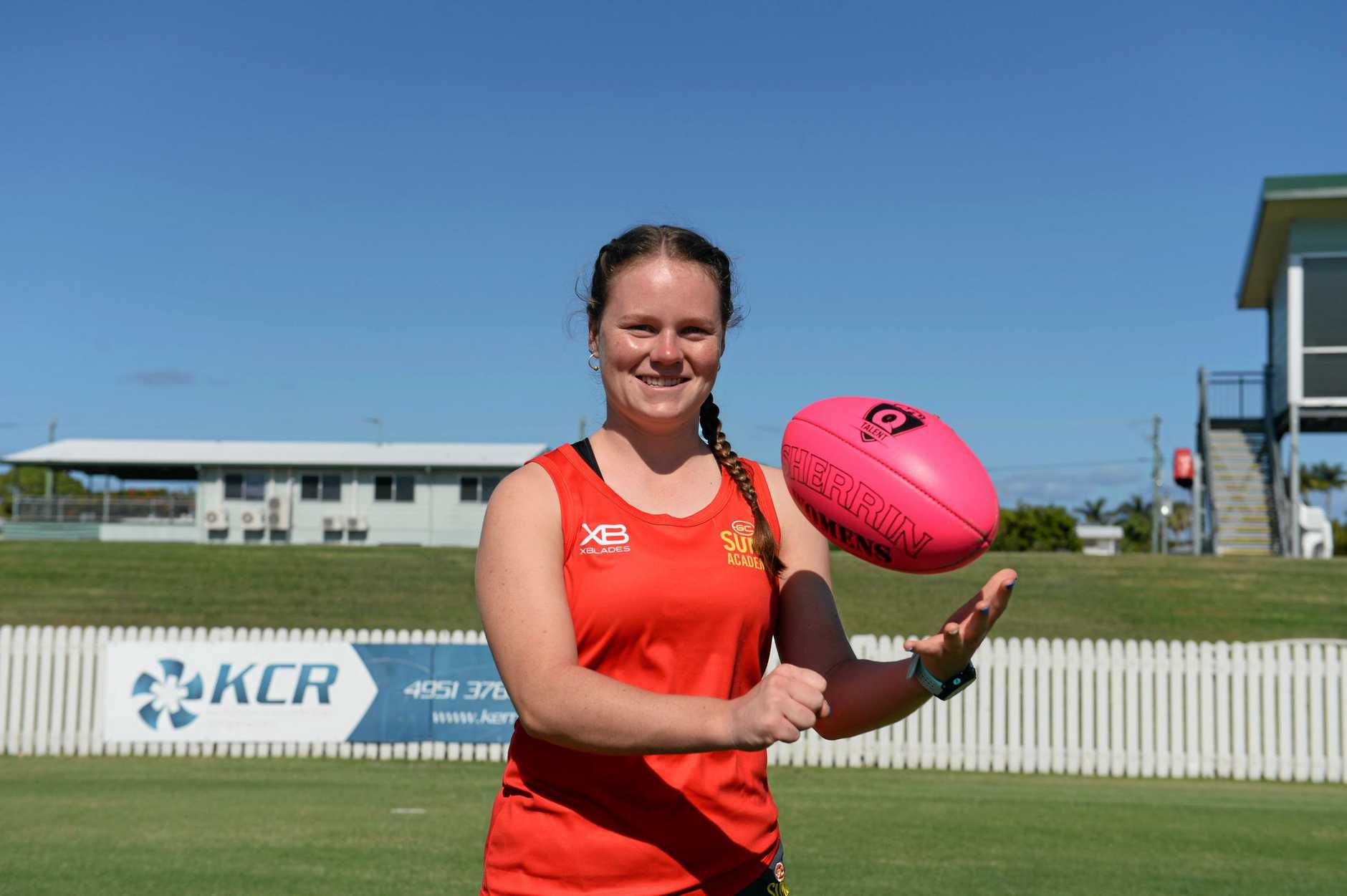 Tanacha Saunders was one of four Mackay girls selected into the selected in the 2019 Under 18 Gold Coast Suns Academy Female Squad