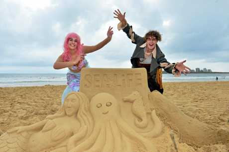 Pirates and Mermaids popped up on Mooloolaba Beach as part of a Sea Life promotion. 'Pirate Trevor and Ethel the Mermaid .