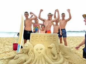 Mooloolaba Beach comes alive with stunning sand sculpture