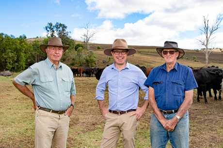 Warwick's David Littleproud (centre) is the current Agricultural Minister and member for Maranoa.
