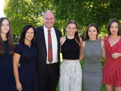 Natalie Joyce, former wife of Deputy Prime Minister Barnaby Joyce is pictured with her daughters. Daughters (L-R) Odette, Caroline, Julia, Bridgette. Picture: Facebook