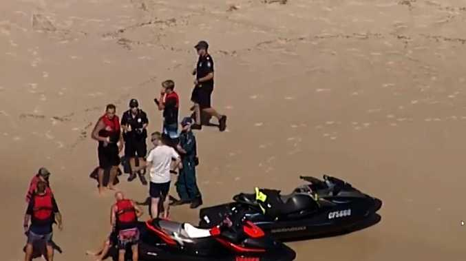 Friends and members of the public rushed to help. Photo: 7 News