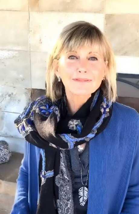 Olivia Newton-John has shared a cheeky video message following 'death' rumours.