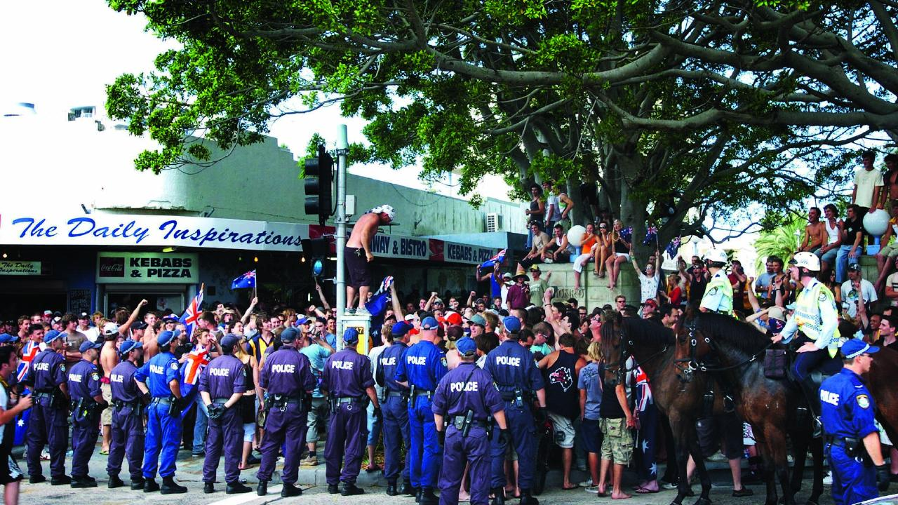 Some of those planning to attend this weekend's rally have drawn comparisons to the infamous Cronulla race riots. Picture: Craig Greenhill