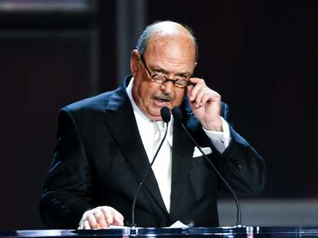 WWE announcer Gene Okerland attends the 25th Anniversary of WrestleMania's WWE Hall of Fame. Picture: Bob Levey