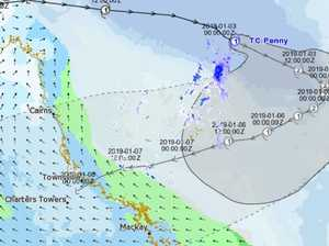 Cyclone Penny to hit Category 2 as it turns towards QLD